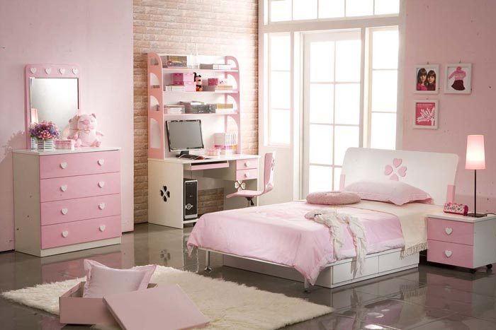 girls pink bedroom home design