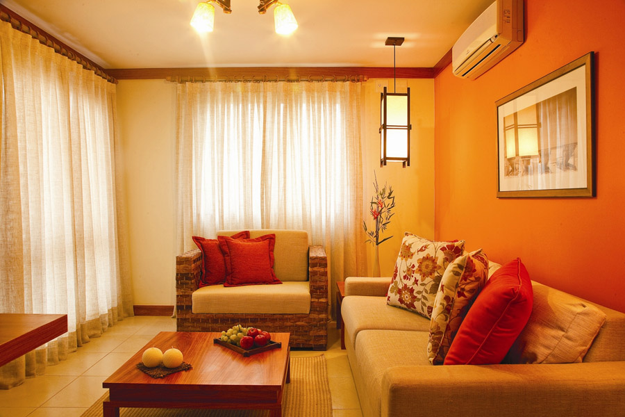 feng shui fire element color in living room