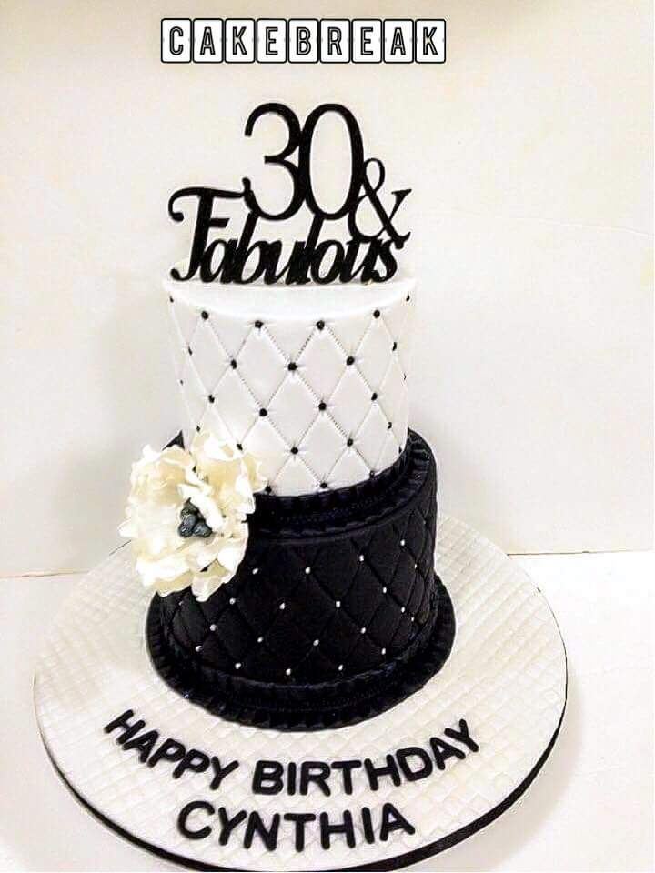 chic and fabulous cake design