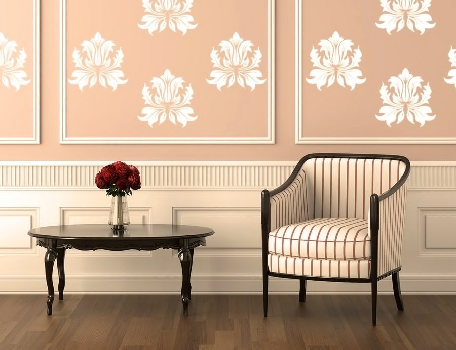 pink walls decorated with vinyl decals