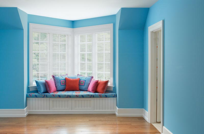 newly-painted room