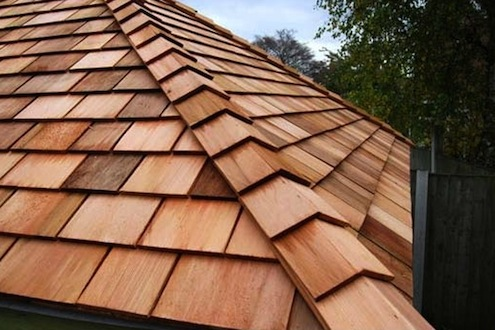 wooden roofing tiles