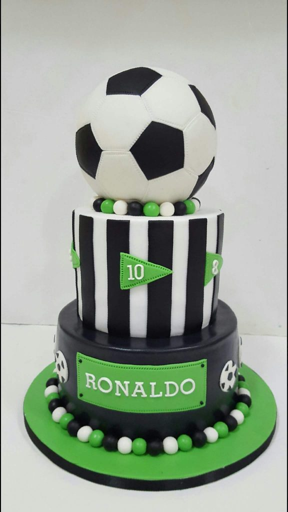creative soccer or football cake