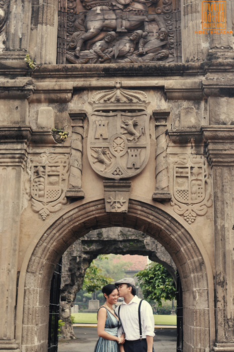 prenuptial photo at intramuros, philippines