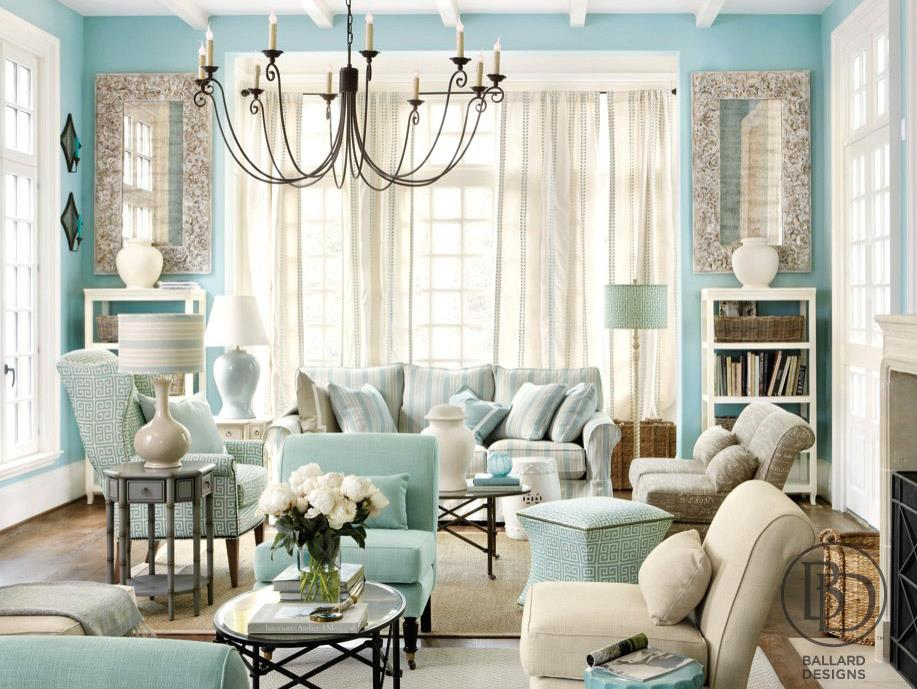 living room painted tiffany blue