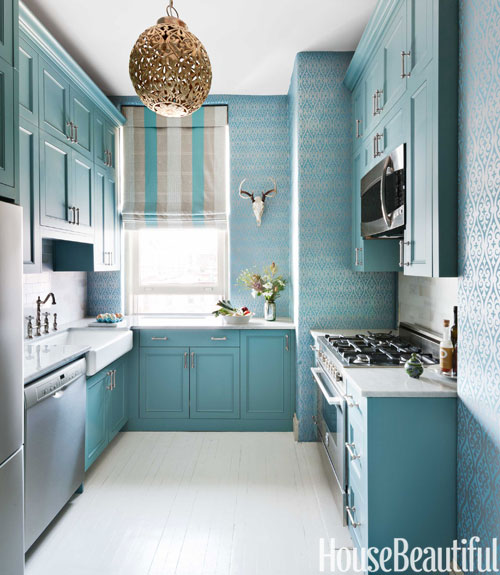 tiffany blue kitchen