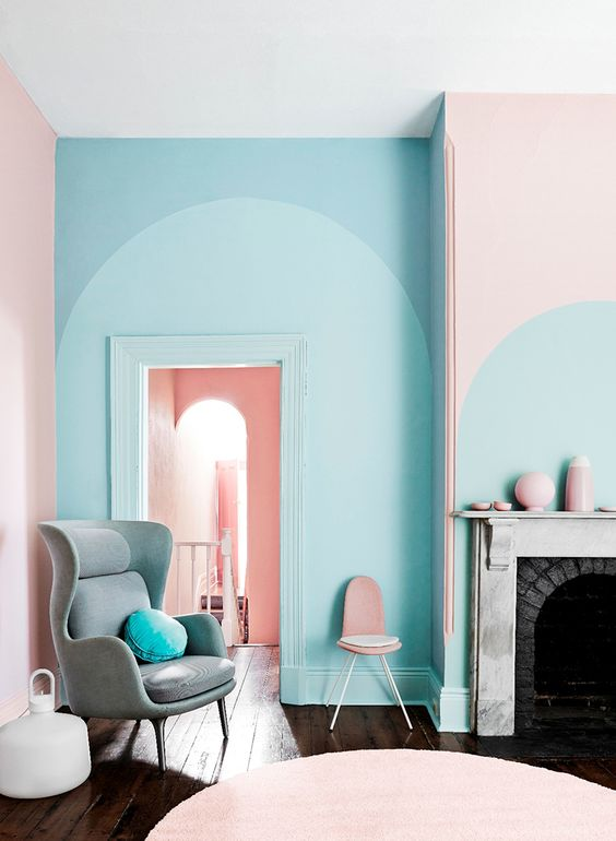 candy pastel wall apartment
