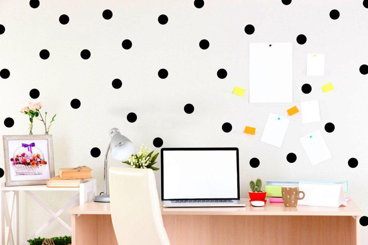 polka dot interior design
