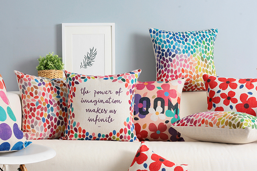 colourful inspiring cushions