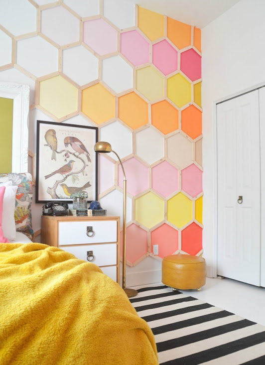 honeycomb wall art