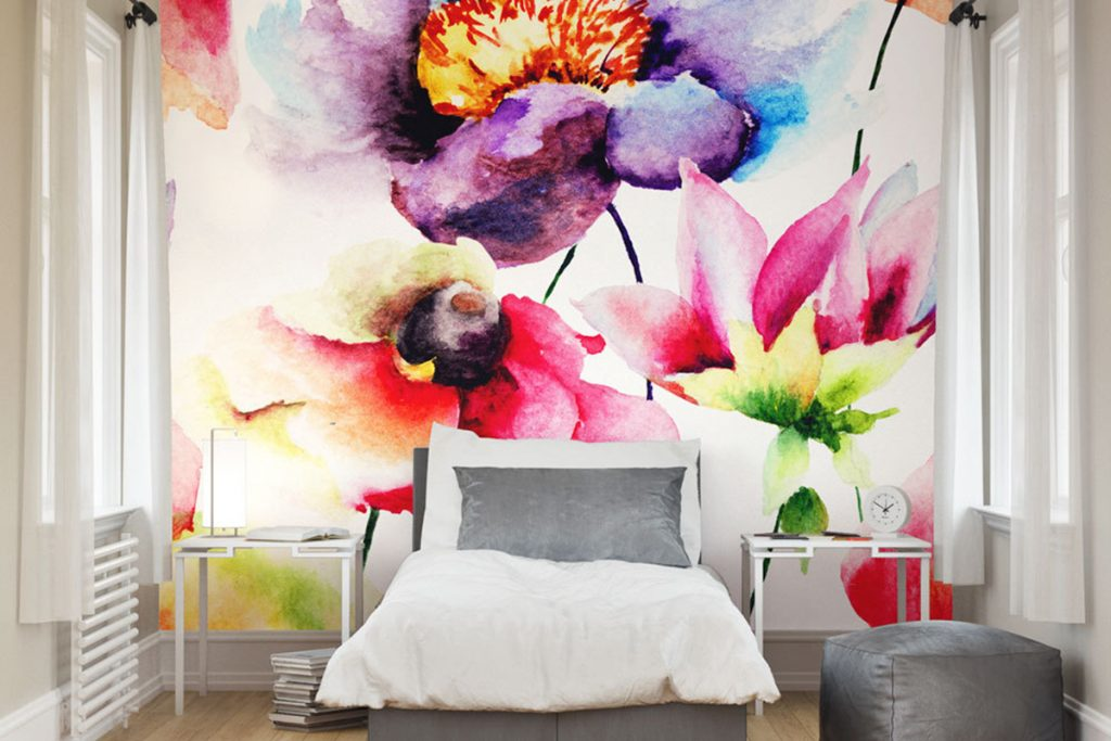 baeutiful floral mural