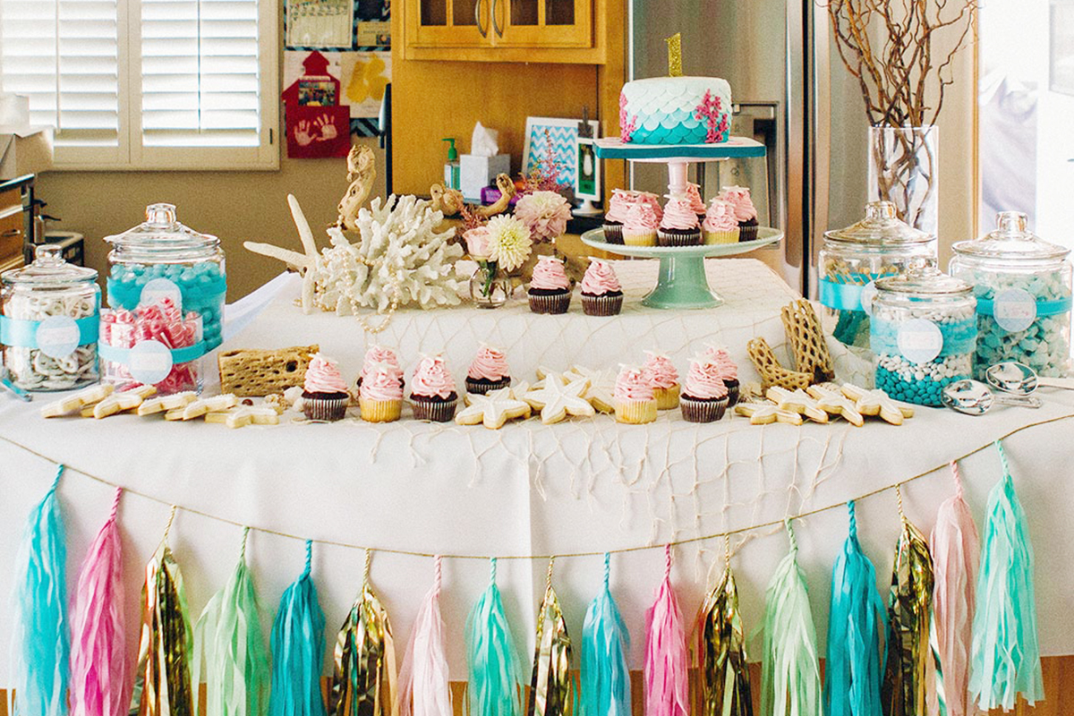 mermaid party decoration