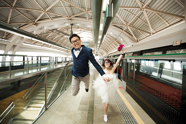 singapore mrt prewedding photoshoot