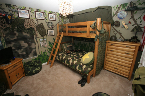 jungle themed bedroom for kids