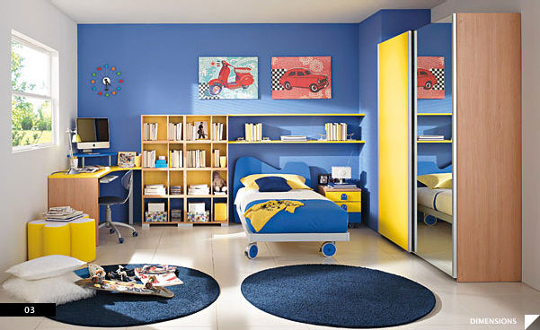 bright and cheerful room for kids