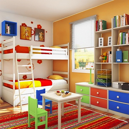bright room for kids