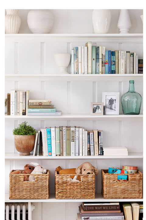 organised shelf-declutter