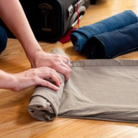 securing fragile items with clothes