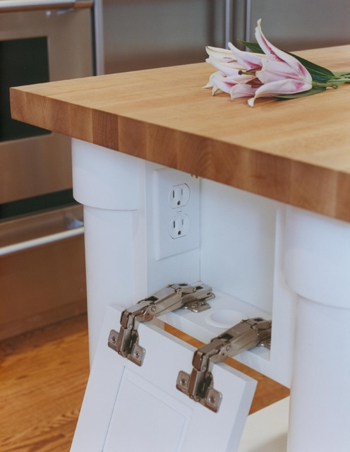 kitchen island counter with power sockets