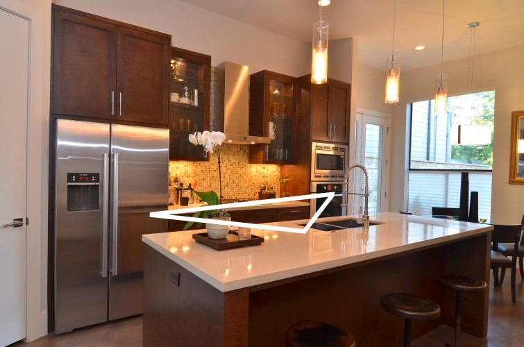 6 useful things about kitchen island counters you should know Kitchen triangle design with island