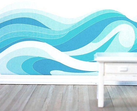 blue waves painting