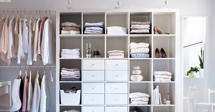 organised closet at home