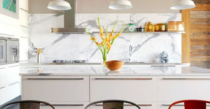 marble backsplash kitchen