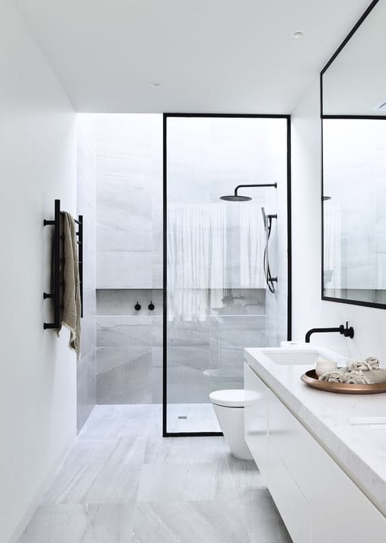 minimalist shower