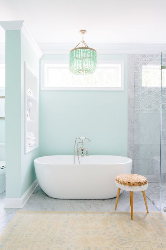 pastel bathroom design
