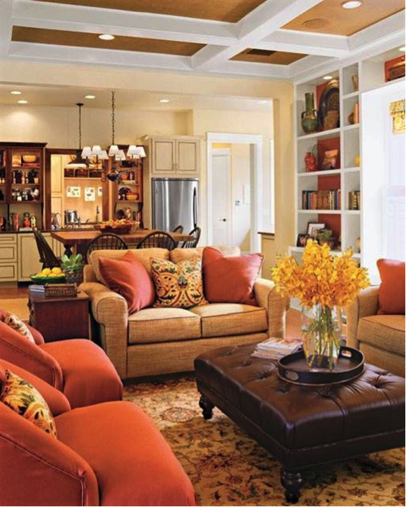 warm coloured living room