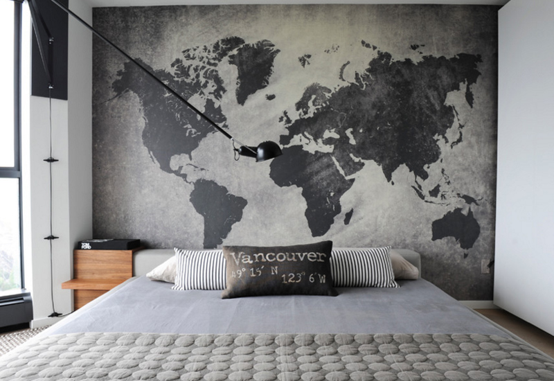 room with map design