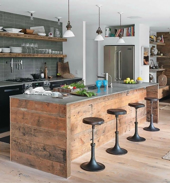industrial chic reclaimed wood