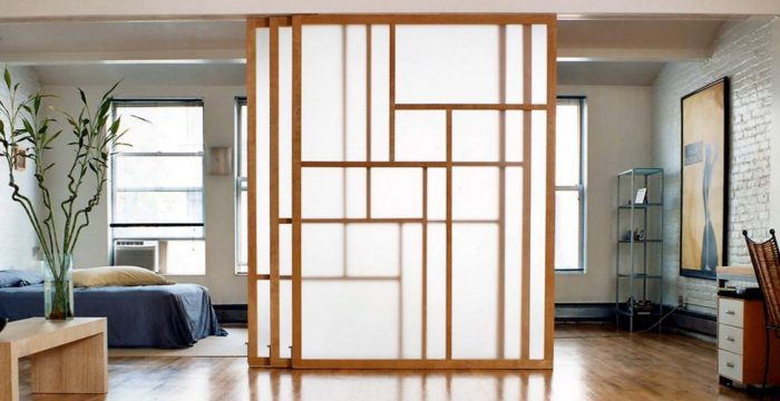 modern japanese sliding door partition