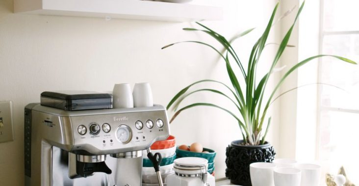 Clean-and-white-coffee-station
