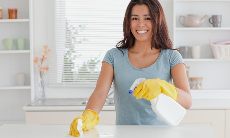 professional female cleaner