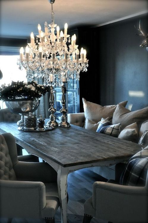 bright chandelier statement piece