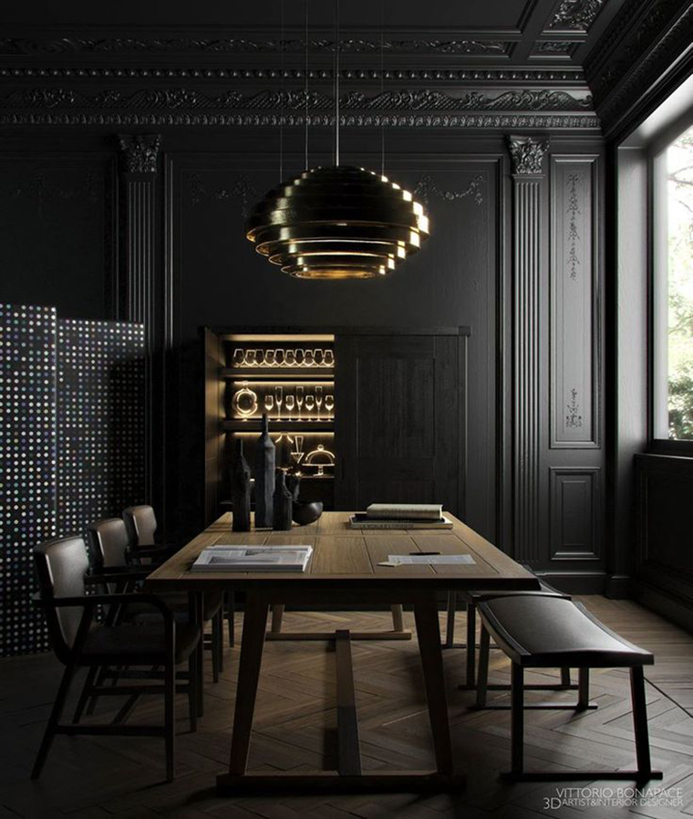 Interior Design Schools In New York: How To Get Deliciously Dark Rooms At Home