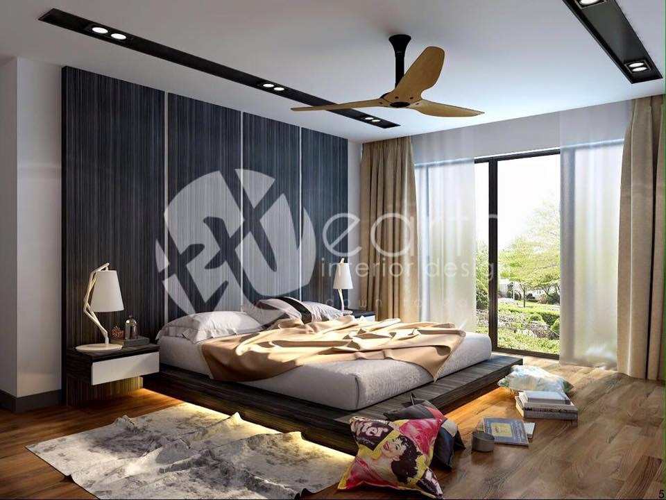 beautiful bedroom design in HDB apartment Singapore