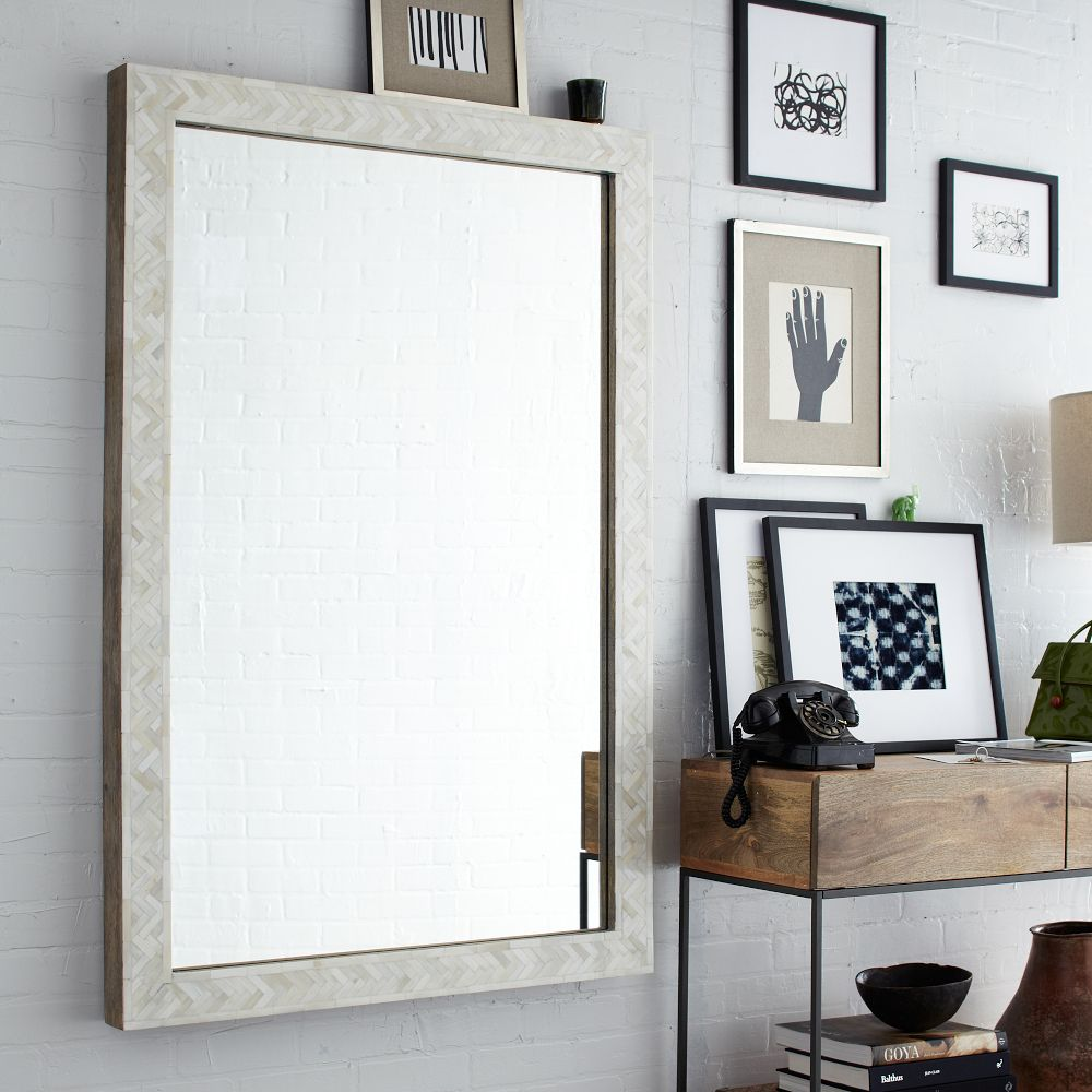 mirror on white wall