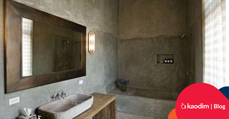 bare concrete bathroom