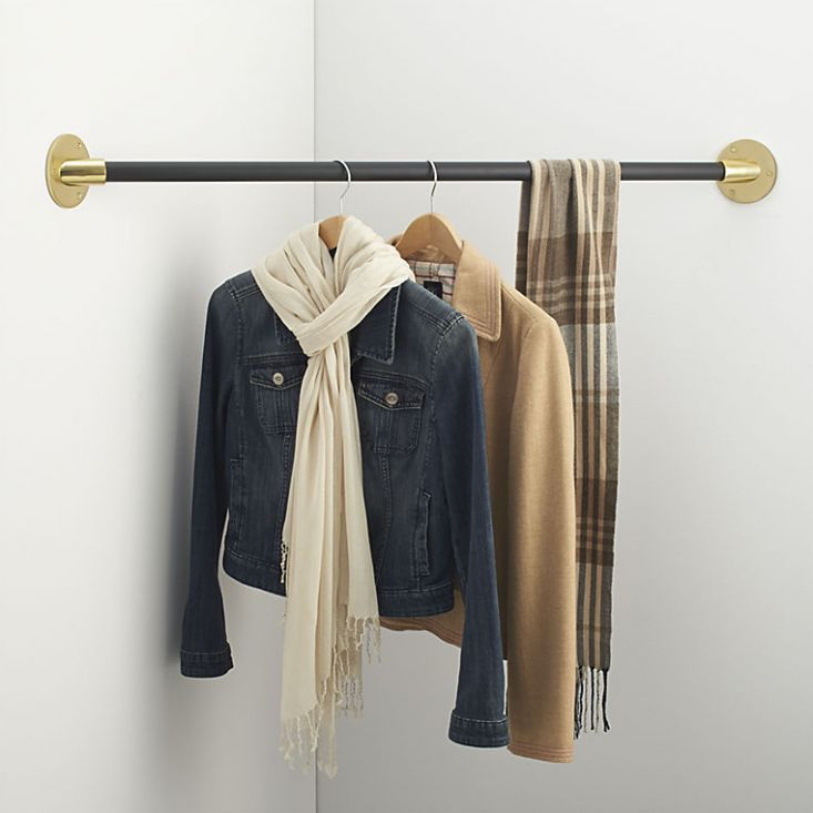 tension rod for hanging clothes