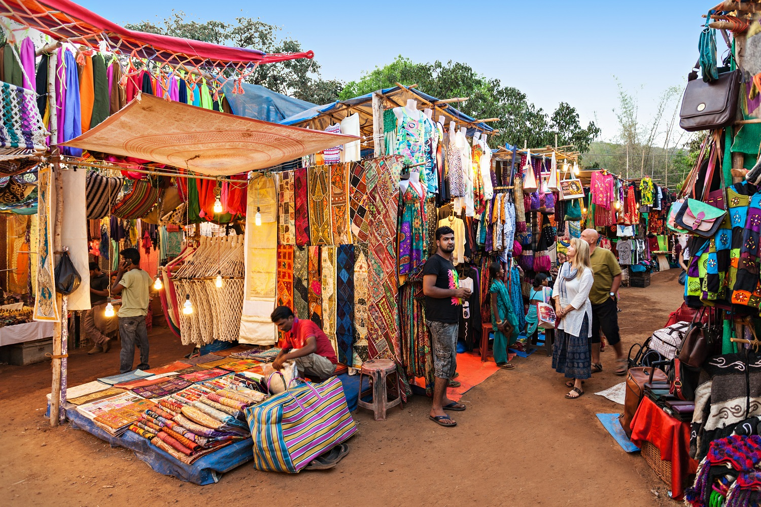 Anjuna Flea Market, Goa, India