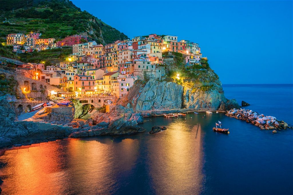 sunset in Manarola Village