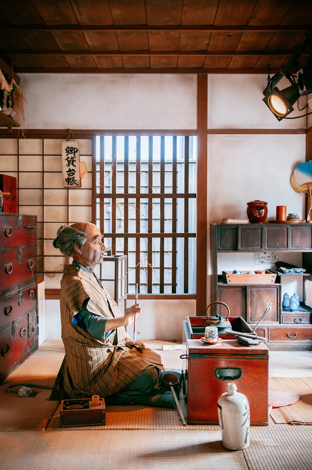 Sample of Japanese room at Noboribetsu Date Jidaimura old architecture Edo Historic Village Hokkaido, Japan.