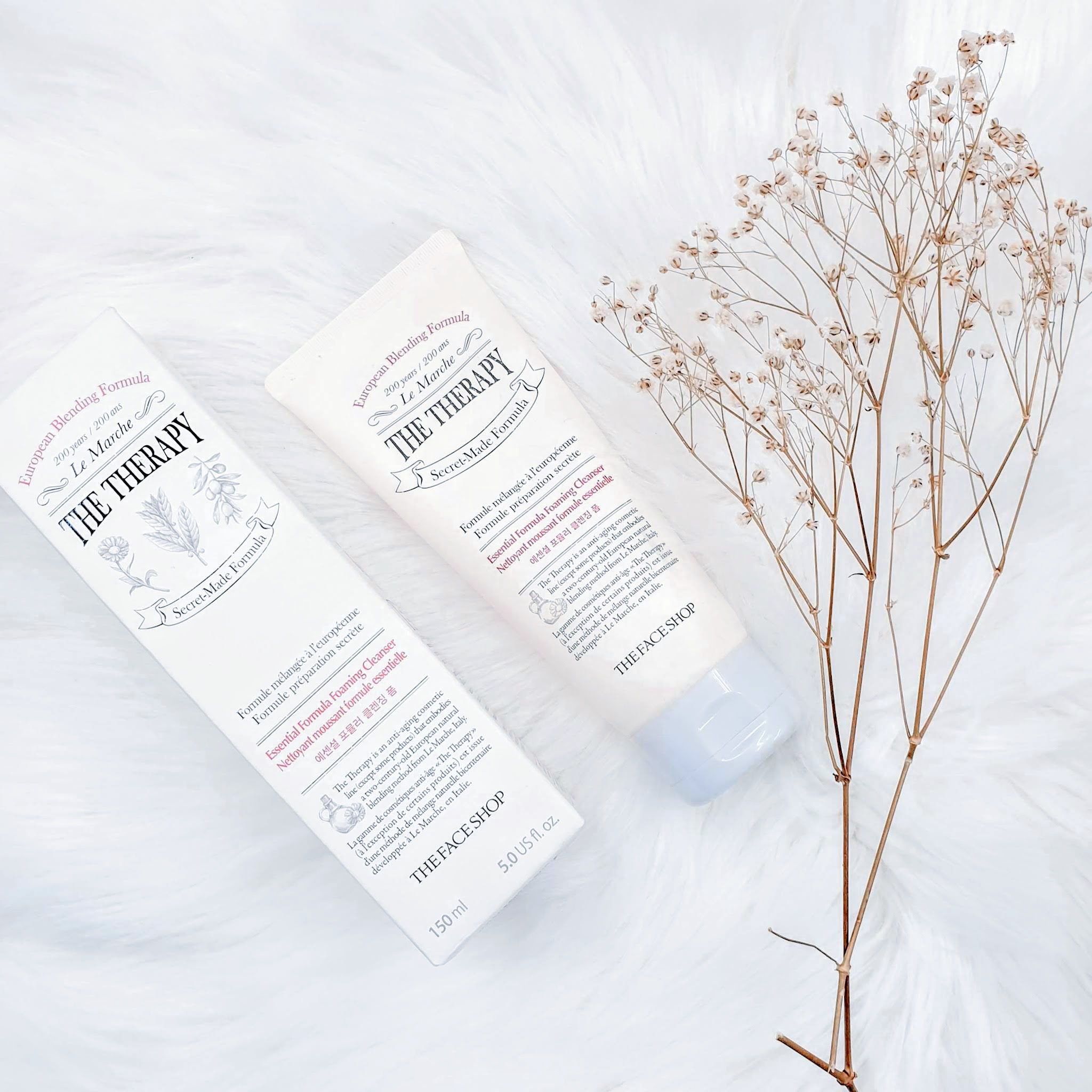 Double Cleansing | THE FACE SHOP The Therapy Essential Formula Foaming Cleanser