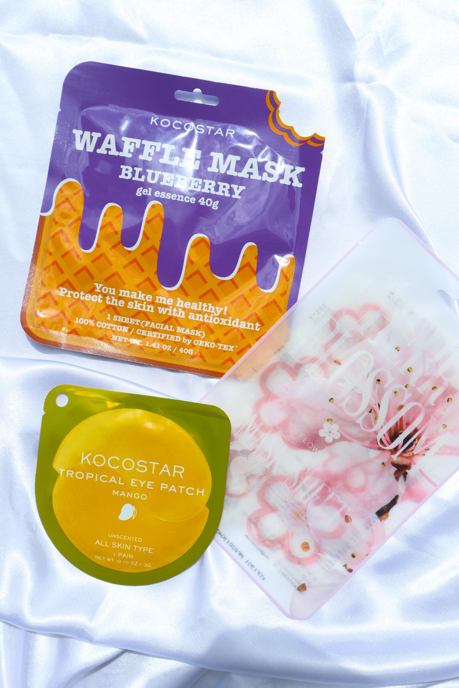 Yummy Kocostar [Tropical Eye Patch, Slice Mask Sheet & Waffle Mask] Review