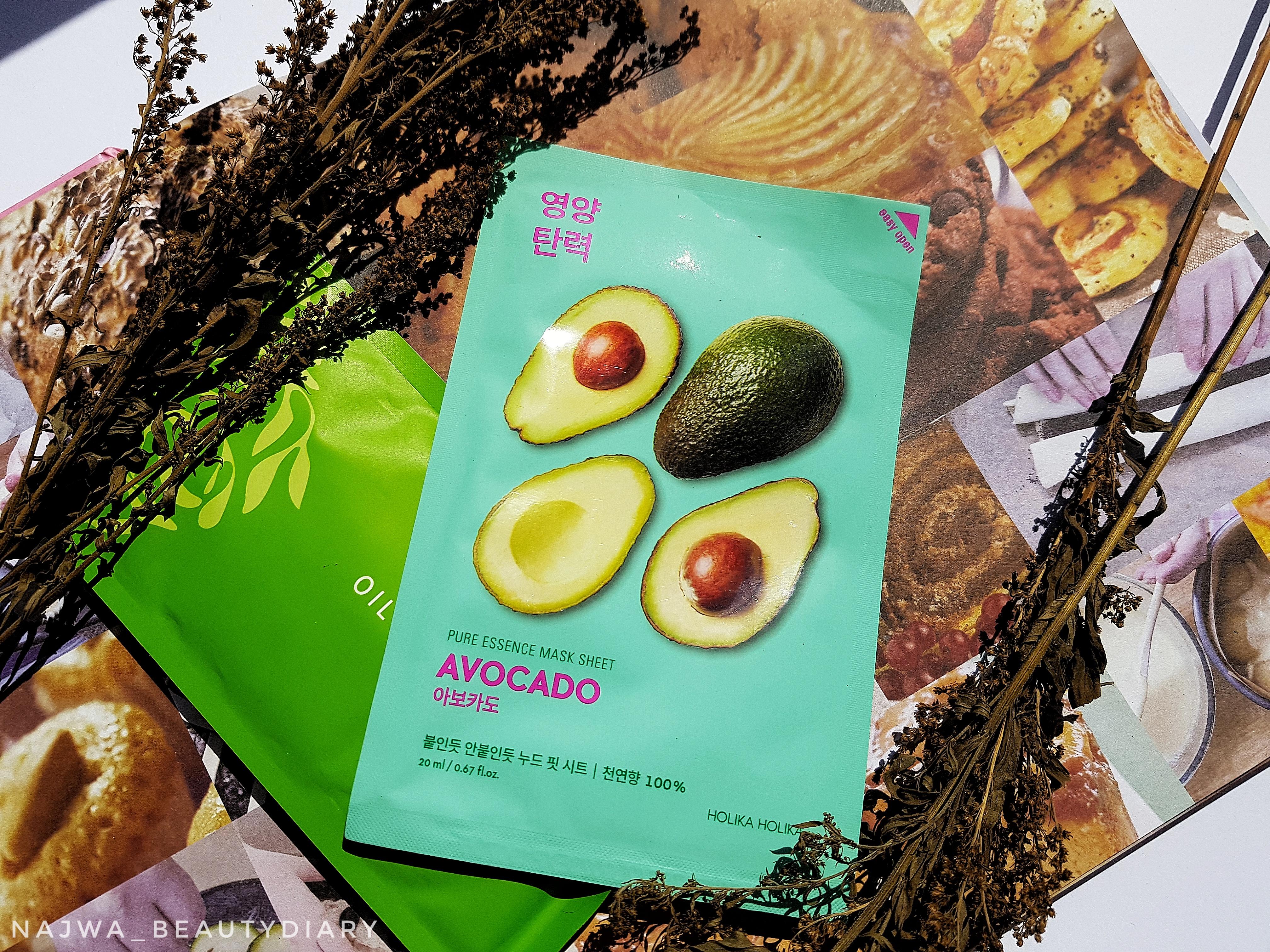 Holika Holika Pure Essence Mask Sheet (Avocado) | Review