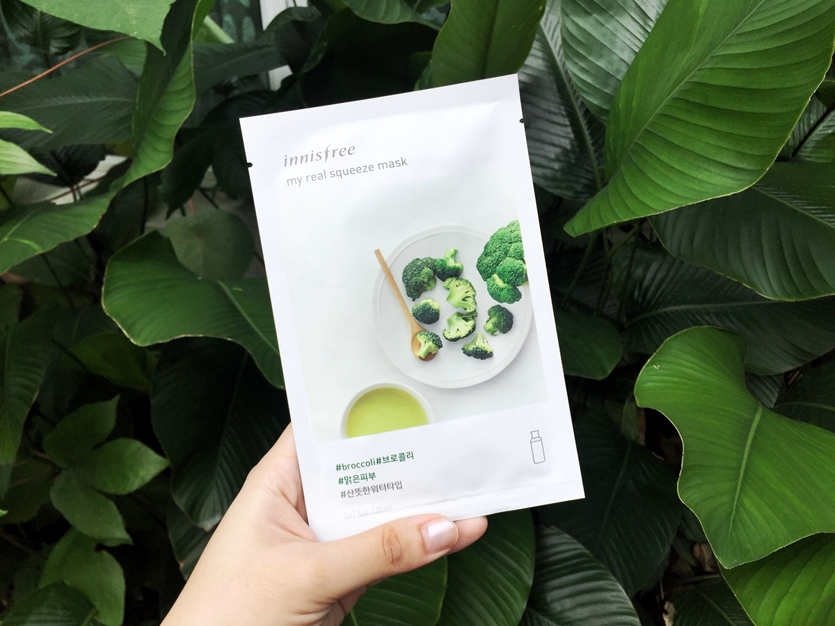 REVIEW | INNISFREE My Real Squeeze Mask – #Broccoli