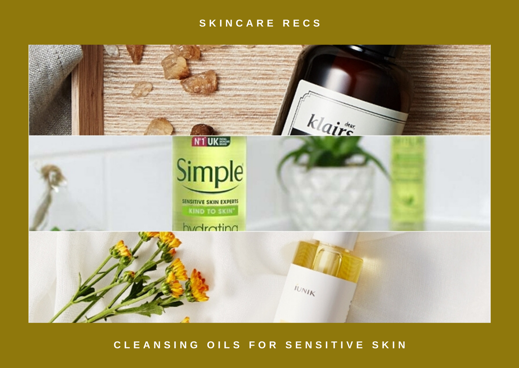 Cleansing Oils Perfect for Sensitive Skin