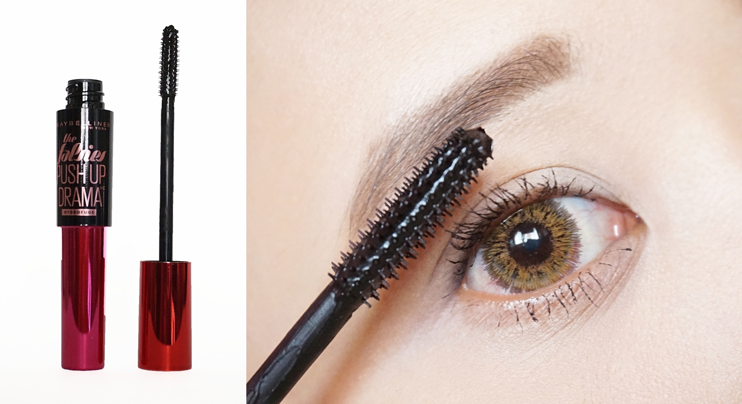 Maybelline The Falsies Push Up Drama Mascara Waterproof [#Super Black] Review